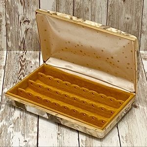 Storage & Organization - Vintage 60's 70's Hard Case Clutch Earrings Case